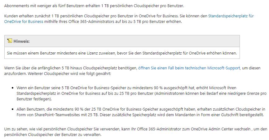 OneDrive for Business Speicher erhöhen | Office 365 | 5 TB