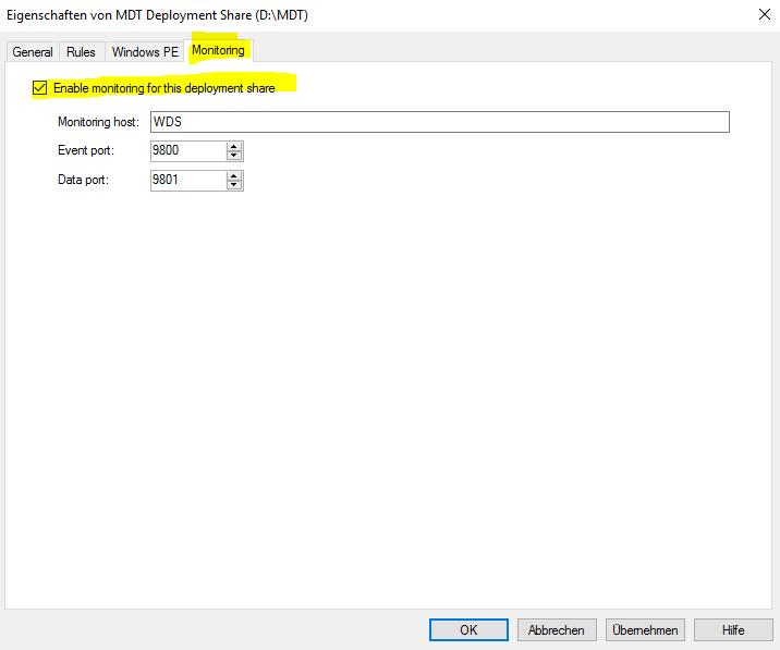 MDT Monitoring | Überwachung der Installation | Windows 10