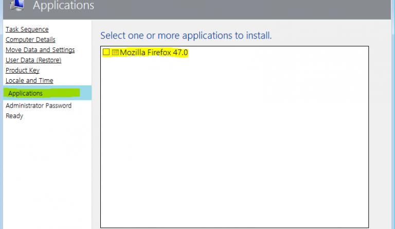 Über MDT Applikationen und Programme installieren